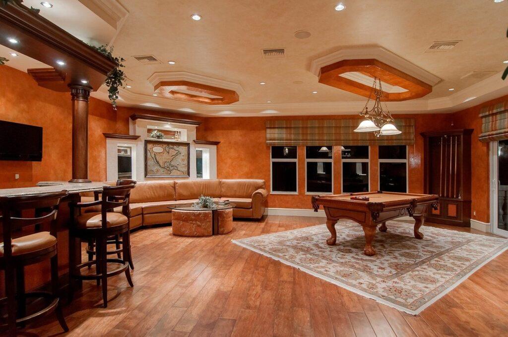 Pokój bilardowy w domu